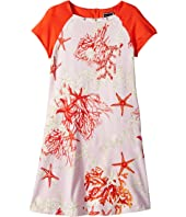 Versace Kids - Short Sleeve Dress Starfish Print (Big Kids)
