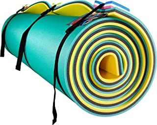 Fun Float Floating Water Mat, 9x6 feet, Swimming Island,Aqua Pad,Used in Lake,Pool,on Beach,for Relax, Vacation,Water Activities,Sports,Recreations,Parties,with Mooring Device,Rolled Packed, L