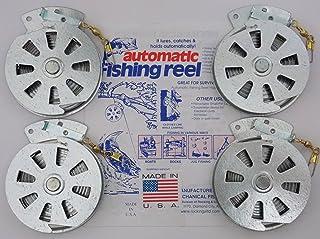 4 Mechanical Fisher's Yo Yo Fishing Reels -Package of 4 Reels- Yoyo Fish Trap -(FLAT..