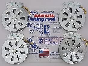 4 Mechanical Fisher's Yo Yo Fishing Reels -Package of 4 Reels- Yoyo Fish Trap -(FLAT TRIGGER MODEL)