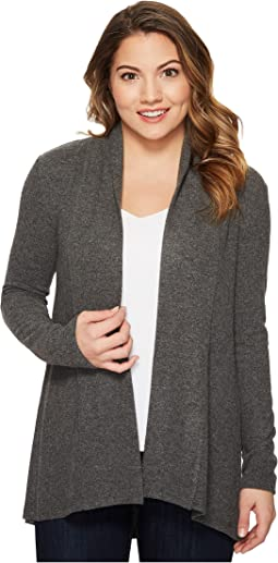 Petite Long Sleeve Brushed Jersey Open Front Cardigan