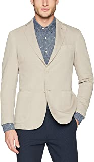 Men's Two Button Unconstructed Single Breasted Sand Blazer