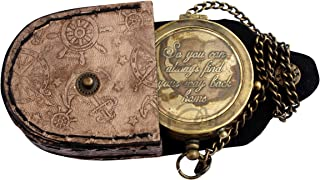 """MAH """"So You Can Always Find Your Way Back Home"""", Camping Compass Engraved with Gift Compass for Christmas. C-3274"""