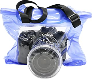 IDS DSLR SLR Camera Waterproof Bag Underwater Housing Case Pouch Bag for Canon Nikon etc.(Blue)