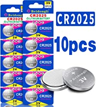 CR2025 3V Lithium Coin Battery (10-Batteries)【5-Year Warranty】