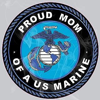 Enigma Design Company USMC Proud Marine Mom Static Cling Decal