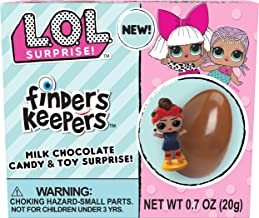 Finders Keepers L.O.L. Milk Chocolate Candy Egg & Toy Surprise, 0.7 Ounce, Pack of 6