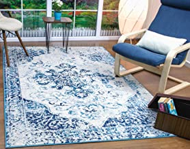 Antep Rugs Elite Collection Bohemian Distressed (DSG44) Indoor Area Rug (Blue, 4' x 6')