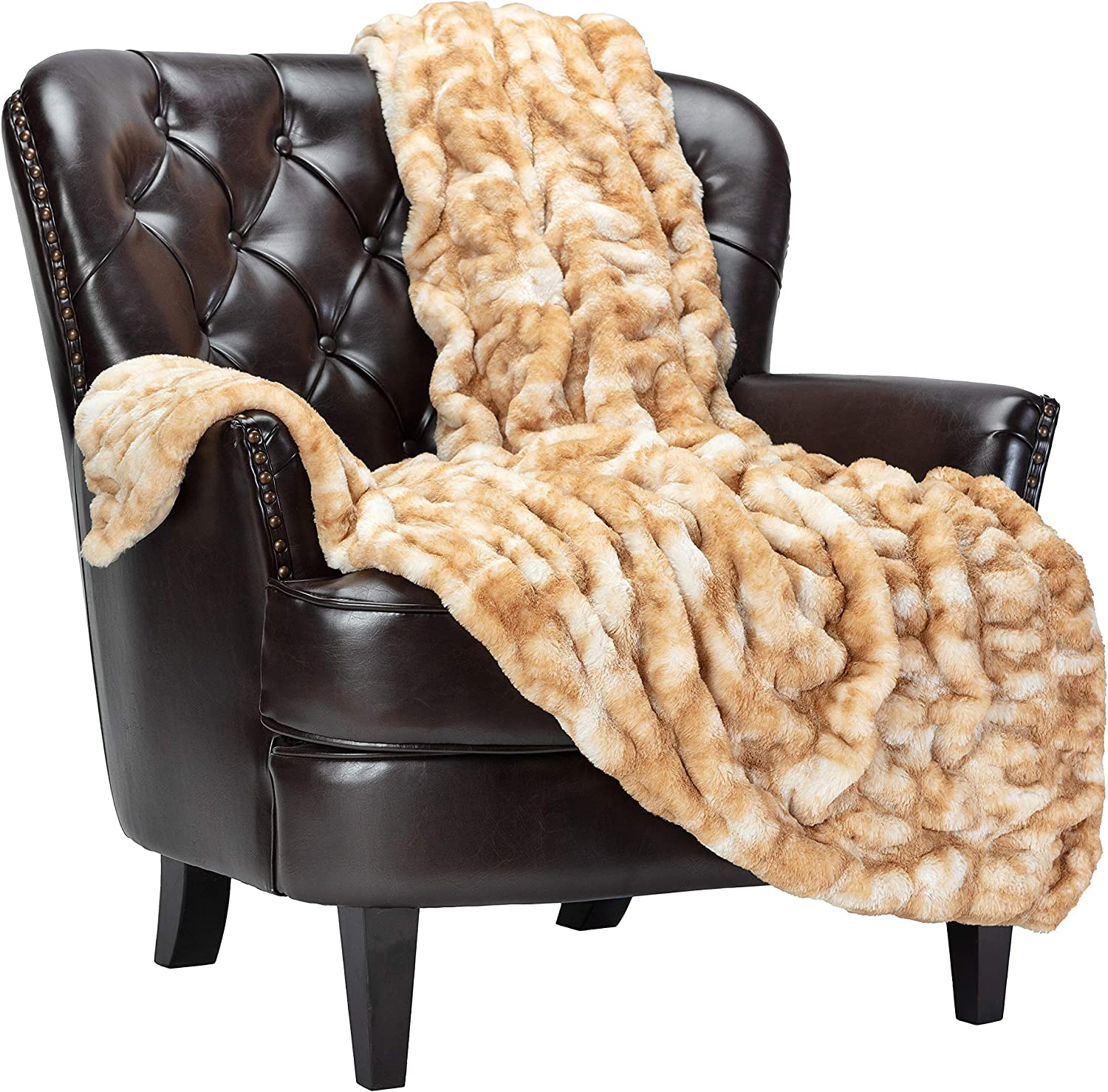 National uniform free shipping Chanasya Ruched Luxurious Soft Faux Fur Throw Pl Fuzzy excellence Blanket -