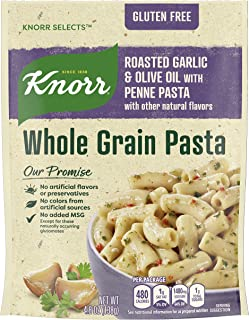 Knorr Whole Grain Pasta For a Delicious Pasta Side Dish Roasted Garlic and Olive Oil Gluten Free 4.8 oz, Pack of 8