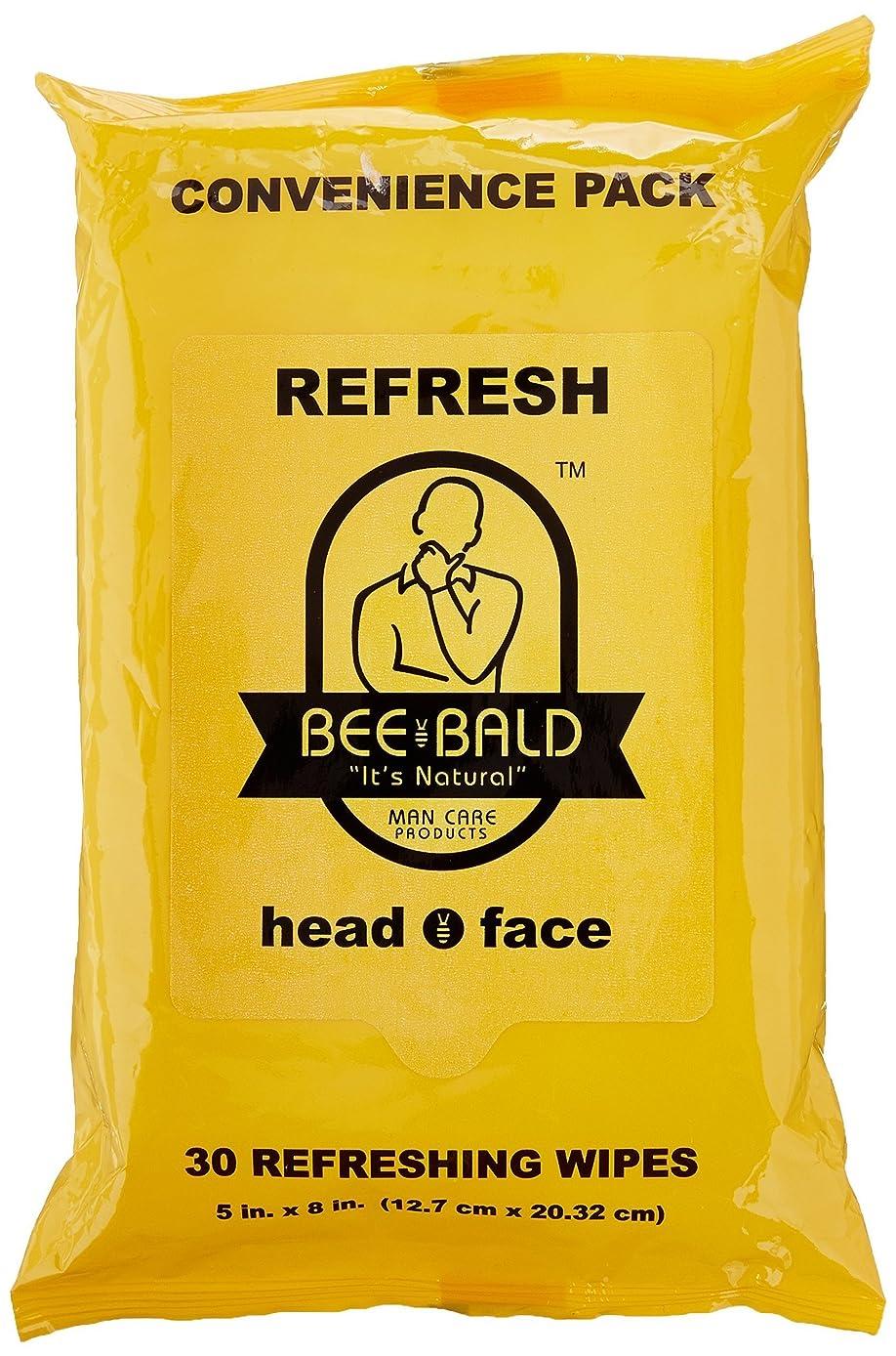 繰り返した公園長さBee Bald Refresh Head and Face Wipes 30 wipes by Bee Bald