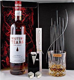 Geschenk Writers Tears Red Head irischer Single Malt Whiskey  Glas  2 Whisky Kühlsteine