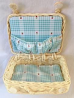 American Girl Bitty Bear Wicker Suitcase