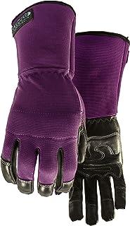 Perfect 10 Gauntlet Purple Garden Glove for Women Size L