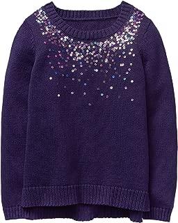 Girls' Little Sequin Popover Sweater
