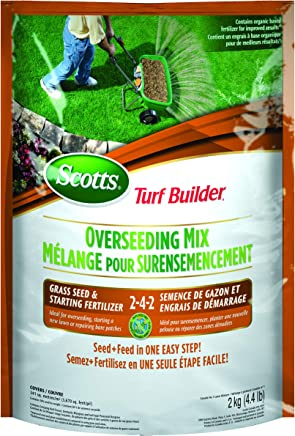 Scotts 12416 Turf Builder Overseeding Mix Grass Seed & Starting Fertilizer 2-4-2