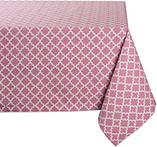 DII Rectangle Lattice Cotton Tablecloth for Weddings, Picnics, Spring Parties and Everyday Use - 60x84