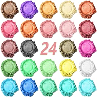 SnailDigit Mica Powder, 24 Color Resin Pigment Powder, Soap Making Kit, Organic Mica Pigment Powder for DIY Soap/Bath Bomb...