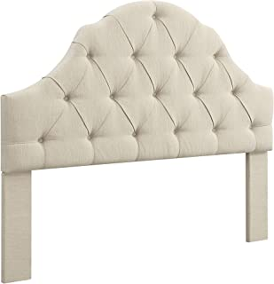 Ravenna Home Wolcott Adjustable Height Arched Tufted Headboard, King / California King Size Bed, Beige
