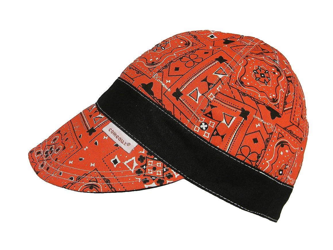 Comeaux Caps Welding Welders Cap Reversible Red Banded Bandana (7 3/8)