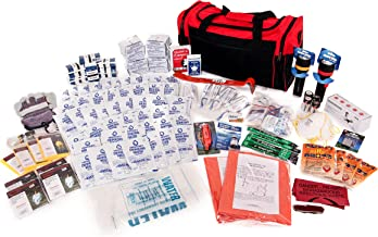 4 Person Survival Kit Deluxe - Prepare For Earthquake, Evacuation, Emergency Disaster Preparedness 72-Hour Kits for Home, Work, or Auto