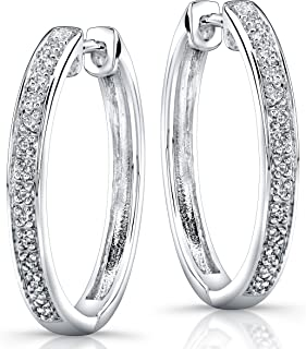 3e3e760d6 Victoria Kay Sterling Silver 1/10ct TDW Diamond Hoop Earrings (J, I2-