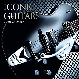 2020 Wall Calendar - Iconic Guitars Calendar, 12 x 12 Inch Monthly View, 16-Month, Features Signed Electric Guitars by Famous Artists, Includes 180 Reminder Stickers