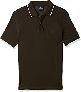 AX Armani Exchange Men's Short Sleeve Jersey Knit Polo