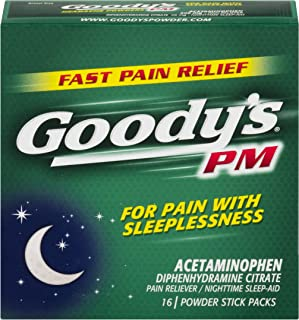 Goody's PM Powders | Pain Reliever + Nighttime Sleep Aid | 16 Count