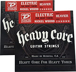 Dunlop Heavy Core Heavier Electric Guitar Strings 11-50 - 2 Pack