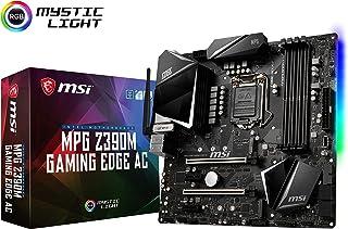 لوحة أم للألعاب (صنف: MPG Z390M) غيمينغ إيدج AC LGA1151 (إنتل جيل ثامن وتاسع) يو إس بي M.2 جيل ثاني 3.1 DDR4 HDMI DP واي ف...