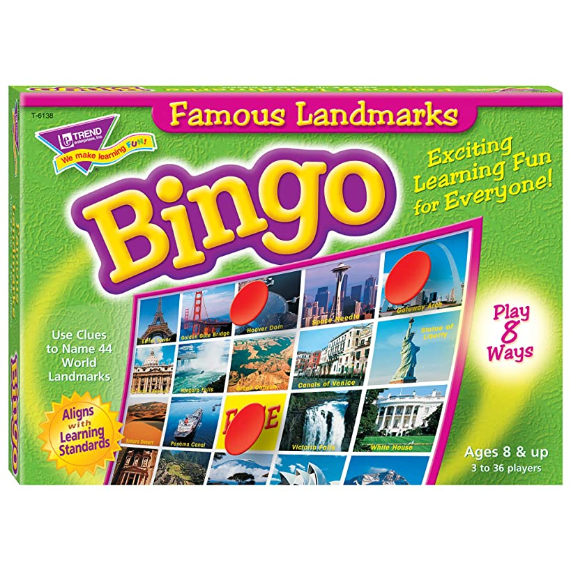 Famous Landmarks Bingo Game