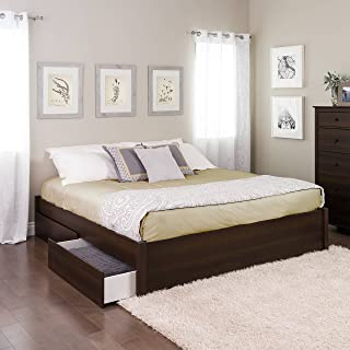 King Select 4-Post Platform Bed with 4 Drawers, Espresso