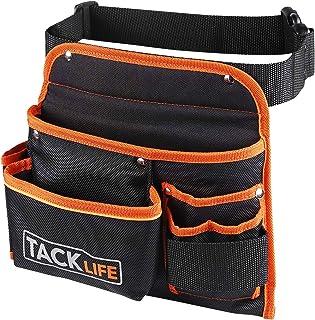 comprar comparacion TACKLIFE Cinturón para Herramientas, Profesionales, Tela Impermeable, Tejido de Tres Capas, Costura de Cifrado, Con Tira F...