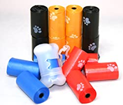 Best Pet Supplies, Inc. BPS - Thick Waste Poop Bags with Dispenser - Scented, Mixed Colors, 240 Bags