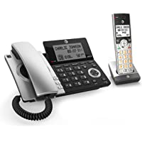 AT&T DECT 6.0 Expandable Corded/Cordless Phone with Smart Call Blocker with 1 Handset (Black/Silver)