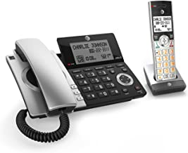 AT&T CL84107 DECT 6.0 Expandable Corded/Cordless Phone with Smart Call Blocker, Black/Silver with 1 Handset photo