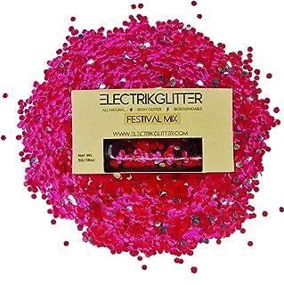 Biodegradable Glitter Chunky Glitter for Festivals. Eco Friendly Body Glitter for Hair Glitter and Nail Glitter (Red)