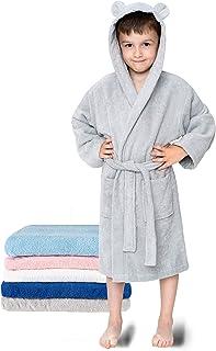 Twinzen - Albornoz Niños Algodón - Niño y Niña - 100% Algodón OEKO-TEX® - Bata de Baño 2 Bolsillos, Cinturón y Capucha