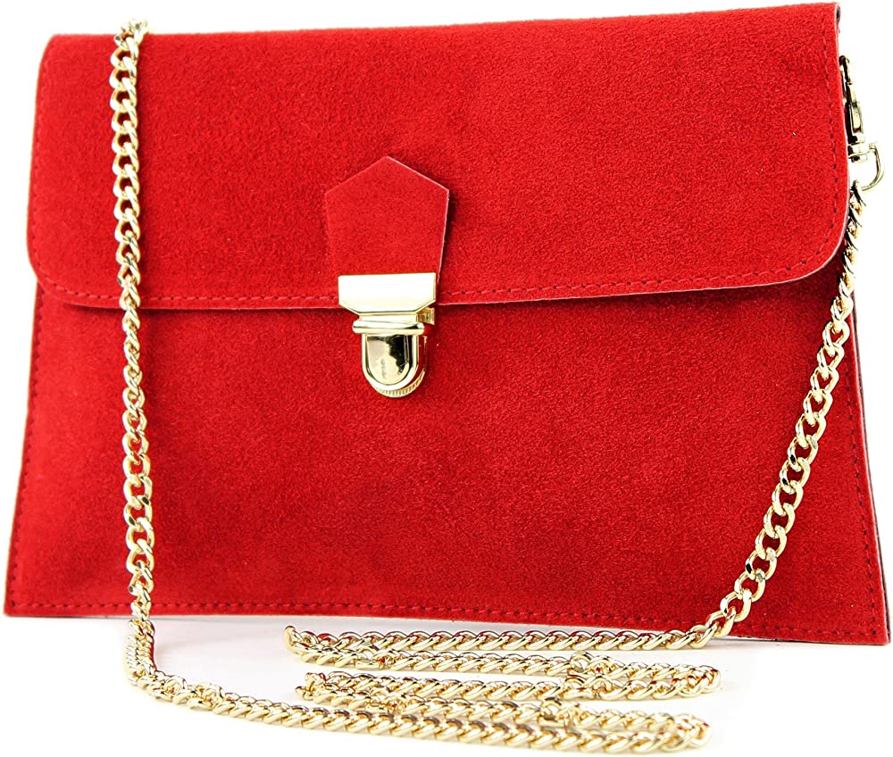 Modamoda de, borsa da sera, pochette per donna, in pelle sintetica scamosciata T206ROT2