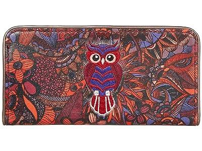 Sakroots Artist Circle Slim Wallet (Cabernet Spirit Desert) Wallet Handbags