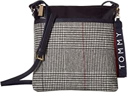 Raleigh Large North/South Coated Wool Crossbody
