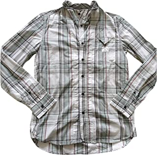 Diesel Jeans Stephens Shirt Long Sleeve Casual 00CVFS 87Q Green Check