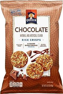 Quaker Rice Crisps, Gluten Free, Chocolate, 3.53oz Bags, 12 Count