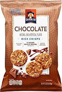Quaker Rice Crisps, Gluten Free, Chocolate, 3.53oz Bags, 12 Count