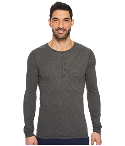 2(X)IST Essentials L/S Henley (Charcoal) Men