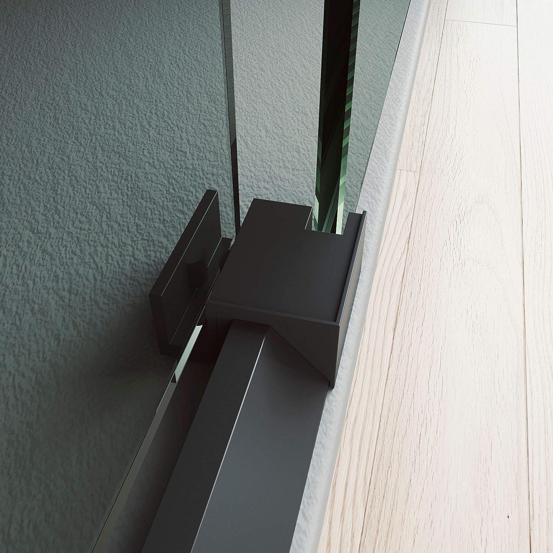 Sin perfil Serigraf/ía Vin/ílica DARO Mampara de Ducha Frontal Corredera 1 Puerta Perfiles en Blanco 1 Fijo Cristal Templado 6mm 96 a 100cm