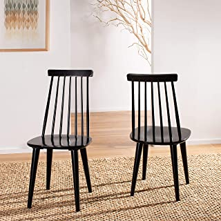 Safavieh American Homes Collection Burris Country Farmhouse Black Spindle Side Chair (Set of 2)