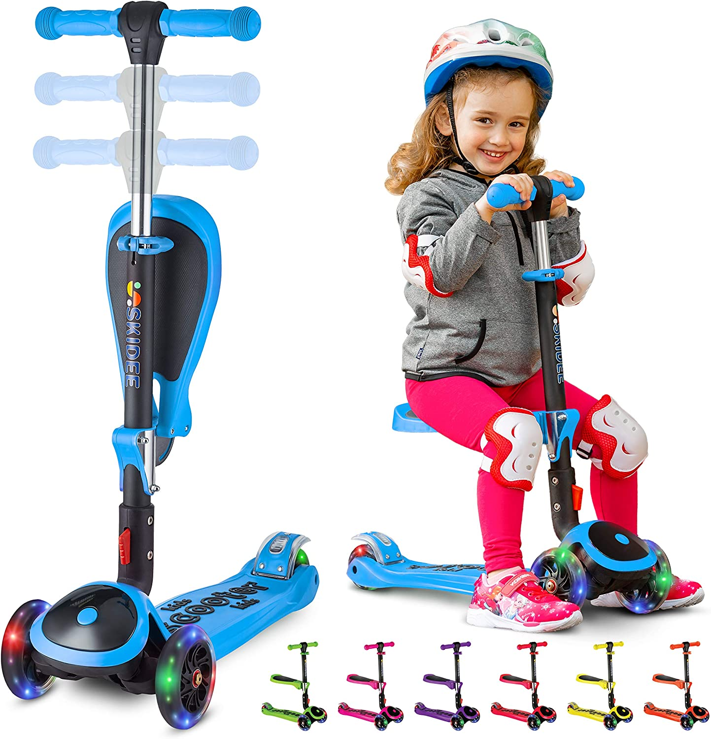 Kick Scooters for Kids Ages Memphis Mall 3-5 Year Adj Suitable Old 2-12 Super popular specialty store