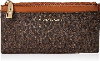 MICHAEL KORS Womens Large Slim Card Case, Brown/Acorn - 34F9GF6D9B